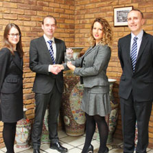 DEM Manufacturing present award to Anglia Components Ltd