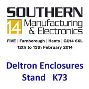Deltron Enclosures to exhibit at Southern Manufacturing 2014