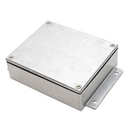 Aluminium Enclosure - IP68 EMI RFI Flanged - Plain